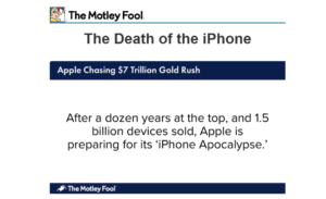 Motley Fool The Death of the iPhone