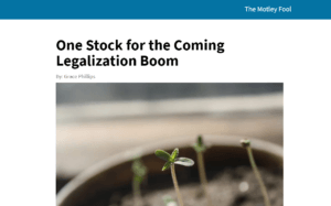 One Stock for the Coming Legalization Boom