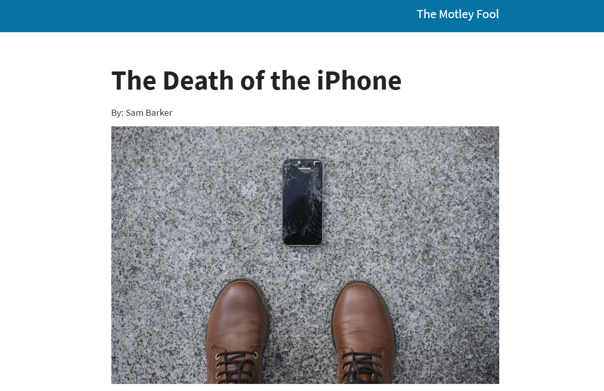 The Death of the iPhone