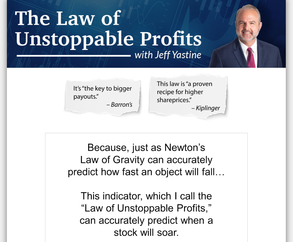 The Law of Unstoppable Profits video 1