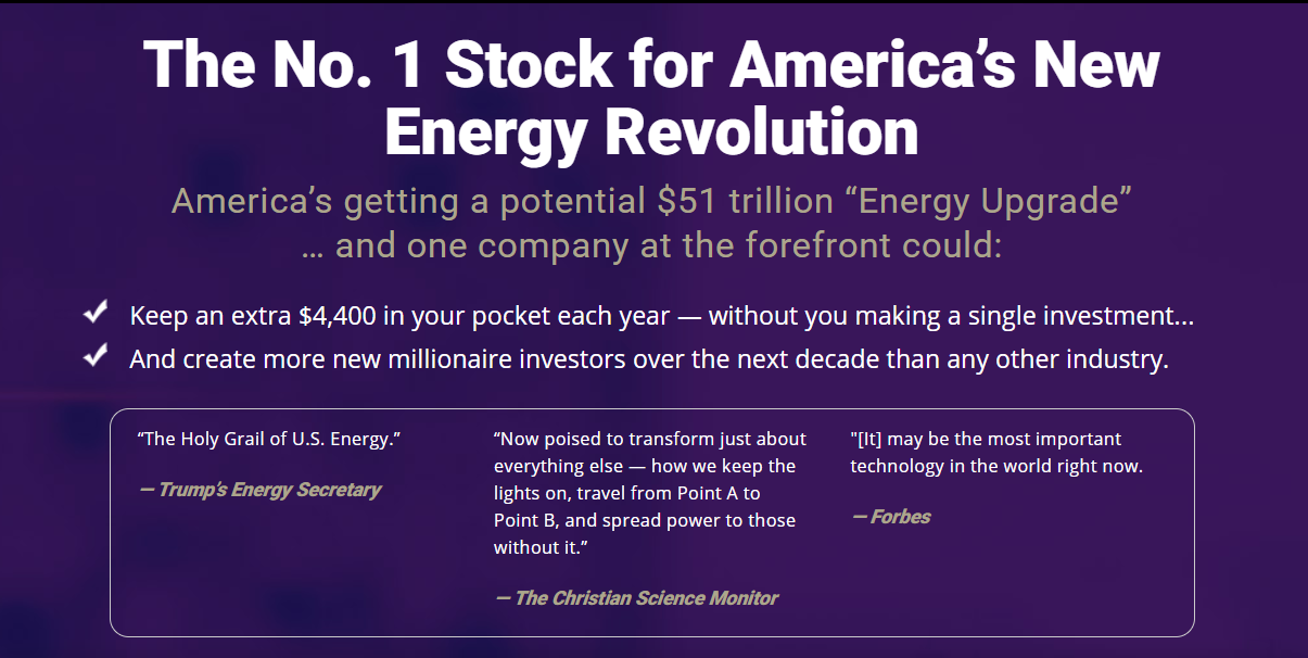 The No. 1 Stock for America's New Energy Revolution