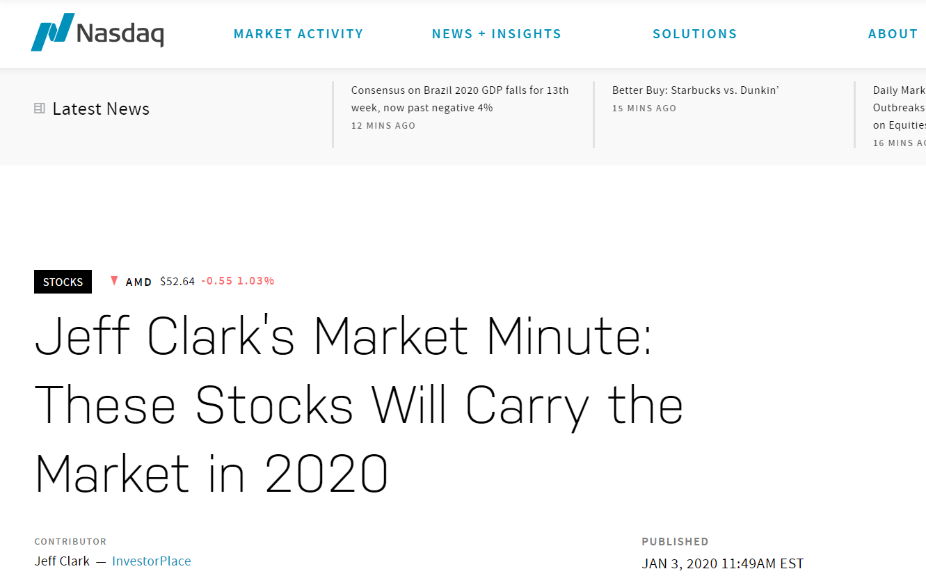 Jeff Clarks Market Minute Nasdaq