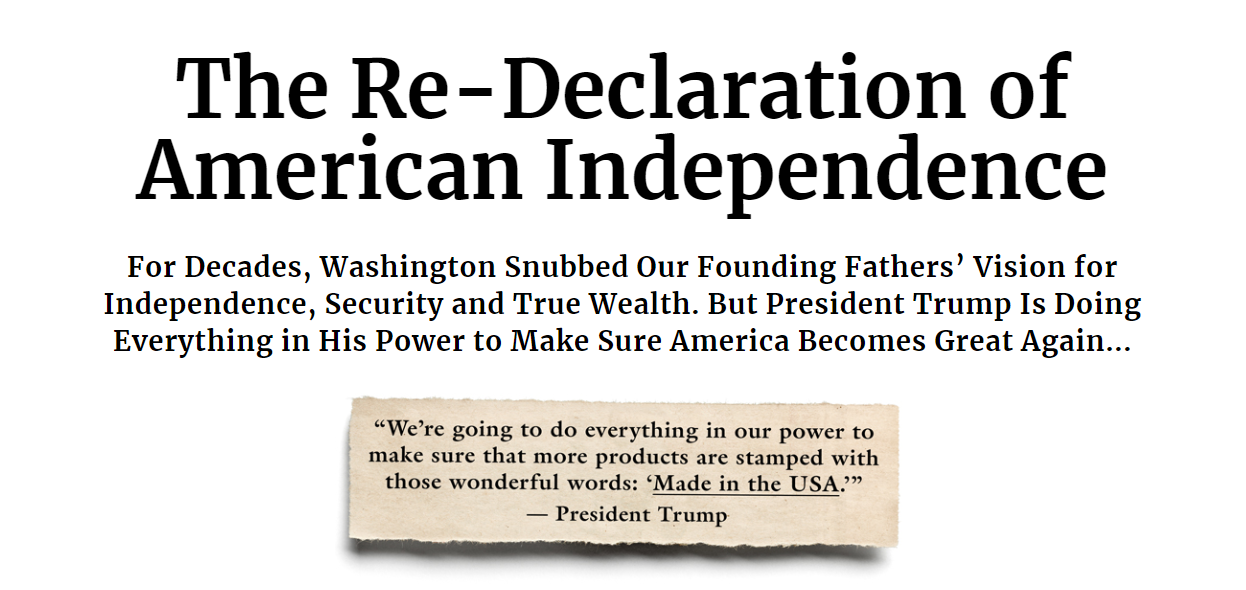 The Re-Declaration of American Independence