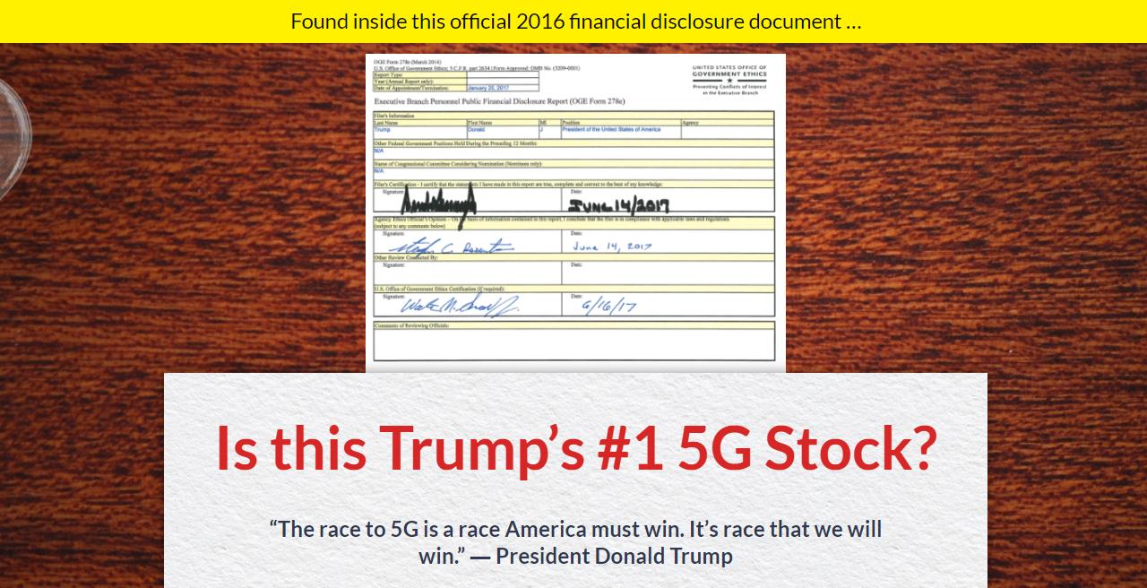 Trump's #1 5G Stock presentation