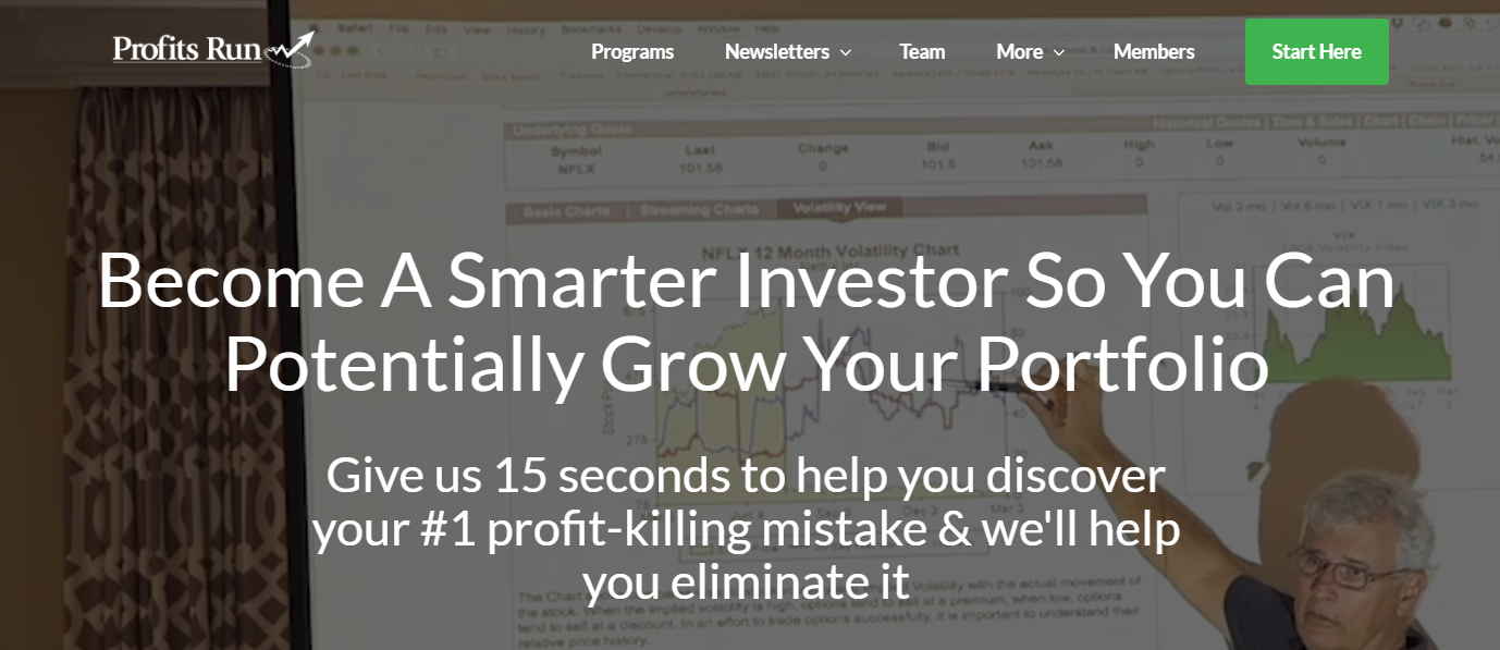 Profits Run Website
