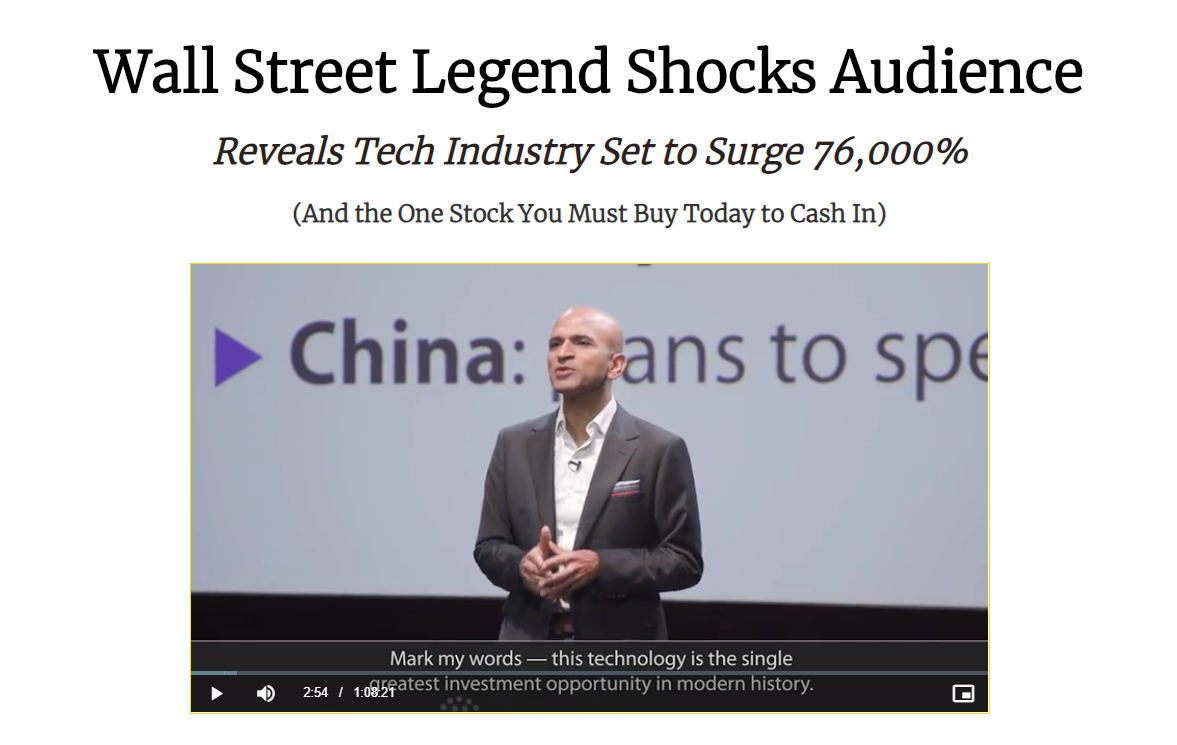 Wall Street Legend Shocks Audience