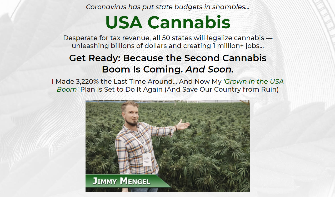 USA Cannabis Jimmy Mengel